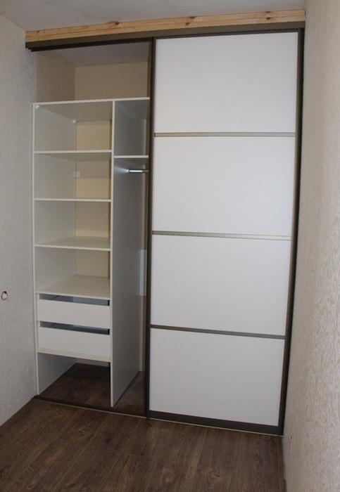 Белые шкафы-купе-Шкаф-купе из ЛДСП «Модель 97»-фото2