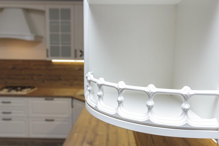 Белый кухонный гарнитур-Кухня МДФ в ПВХ «Модель 10»-фото13