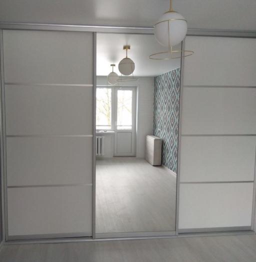 Белые шкафы-купе-Шкаф-купе с зеркалом «Модель 344»-фото2