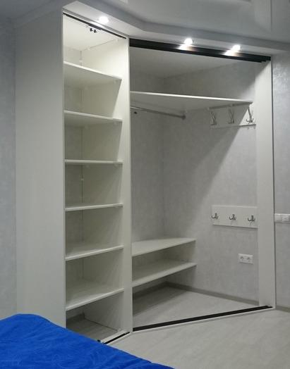 Белые шкафы-купе-Угловой шкаф-купе «Модель 214»-фото2