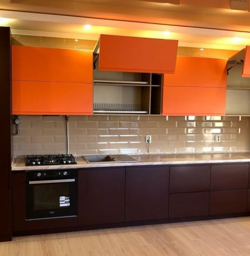 Встроенная кухня-Кухня МДФ в эмали «Модель 571»-фото4